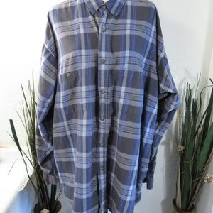 Vtg Patagonia Plaid Organic Cotton Shirt Sz XXL